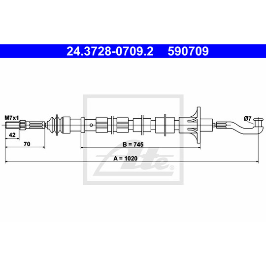 24.3728-0709.2 - Clutch Cable