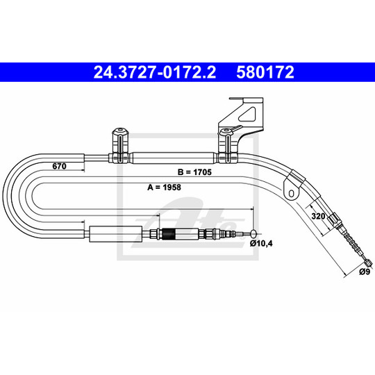 24.3727-0172.2 - Cable, parking brake