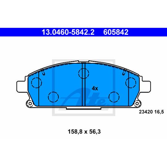 13.0460-5842.2 - Brake Pad Set, disc brake