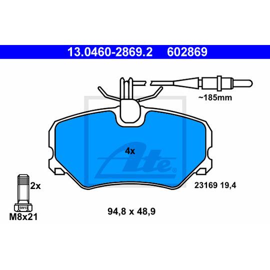 13.0460-2869.2 - Brake Pad Set, disc brake