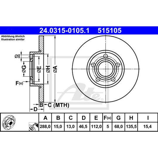 24.0315-0105.1 - Brake Disc