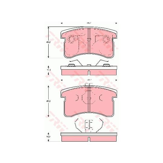 GDB3126 - Piduriklotsi komplekt, ketaspidur
