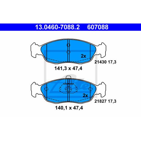 13.0460-7088.2 - Bromsbeläggssats, skivbroms
