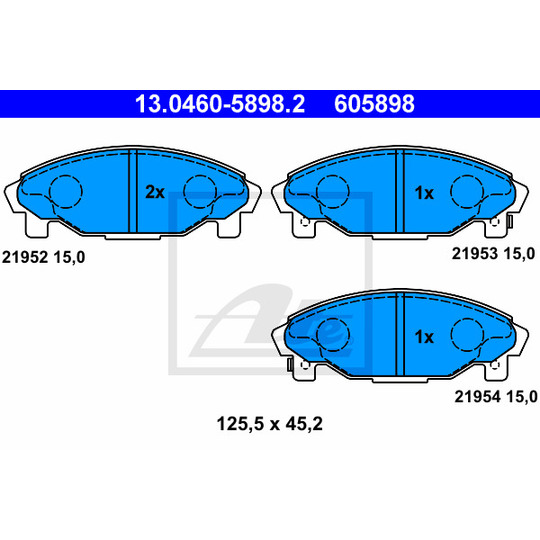 13.0460-5898.2 - Brake Pad Set, disc brake