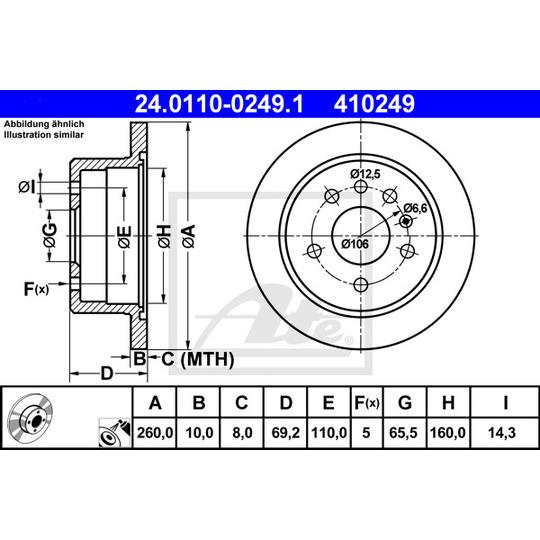 24.0110-0249.1 - Brake Disc