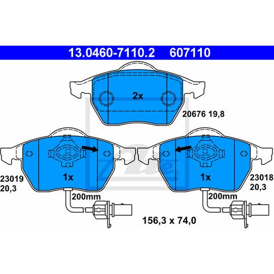 13.0460-7110.2 - Brake Pad Set, disc brake