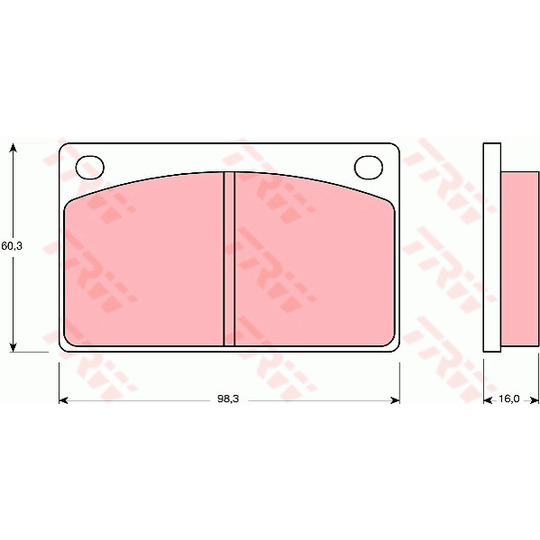 GDB576 - Brake Pad Set, disc brake