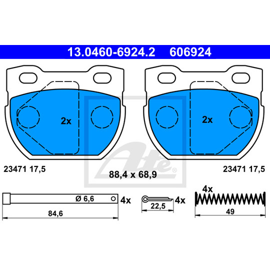 13.0460-6924.2 - Brake Pad Set, disc brake