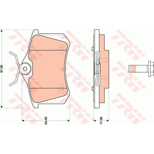 GDB1813 - Brake Pad Set, disc brake