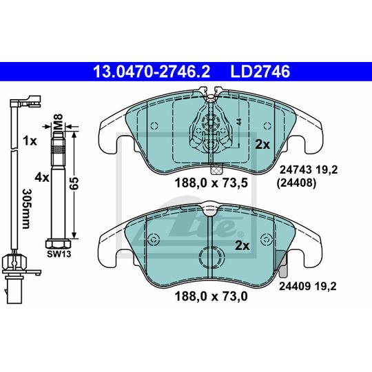 13.0470-2746.2 - Brake Pad Set, disc brake