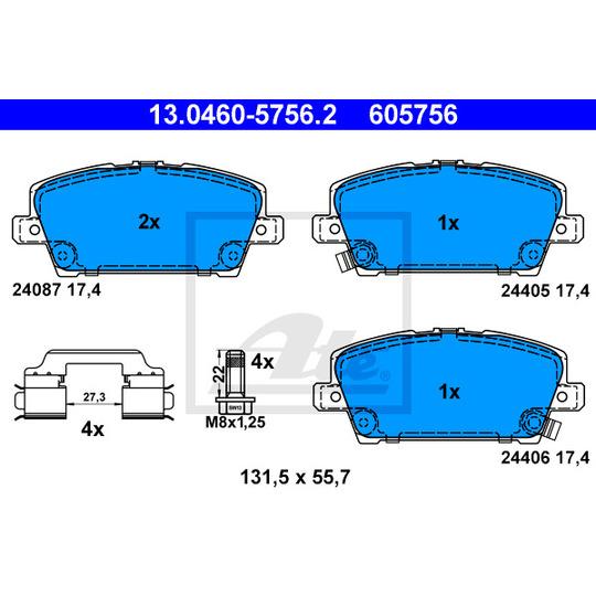 13.0460-5756.2 - Brake Pad Set, disc brake