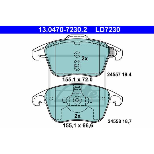 13.0470-7230.2 - Piduriklotsi komplekt, ketaspidur
