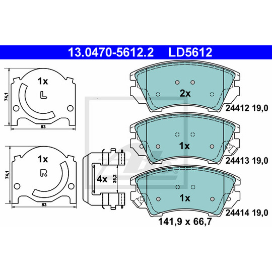 13.0470-5612.2 - Brake Pad Set, disc brake