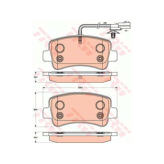 GDB1903 - Brake Pad Set, disc brake