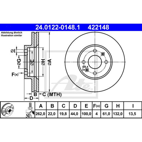 24.0122-0148.1 - Brake Disc