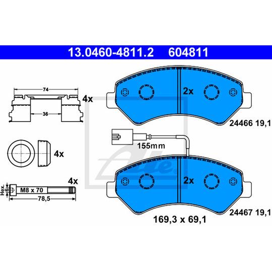 13.0460-4811.2 - Brake Pad Set, disc brake