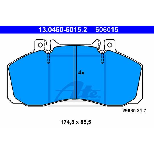 13.0460-6015.2 - Brake Pad Set, disc brake