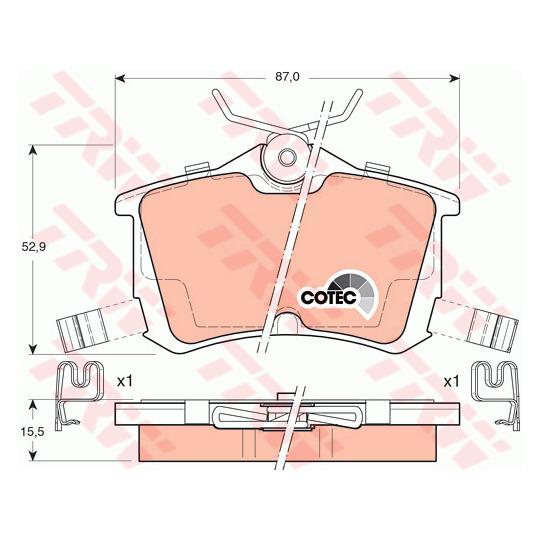 GDB3190 - Brake Pad Set, disc brake