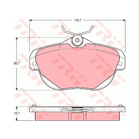 GDB1664 - Brake Pad Set, disc brake
