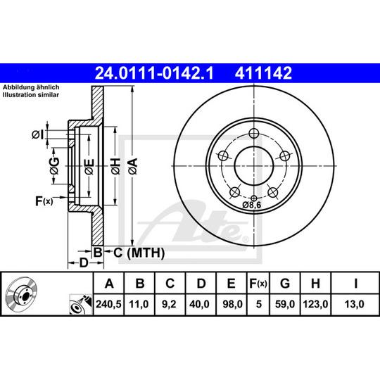 24.0111-0142.1 - Brake Disc