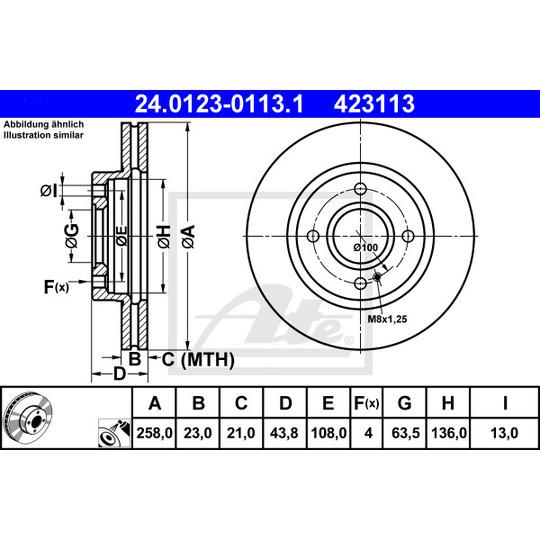 24.0123-0113.1 - Brake Disc