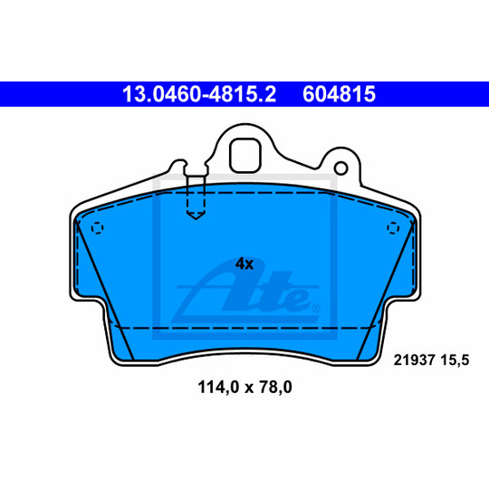 13.0460-4815.2 - Brake Pad Set, disc brake