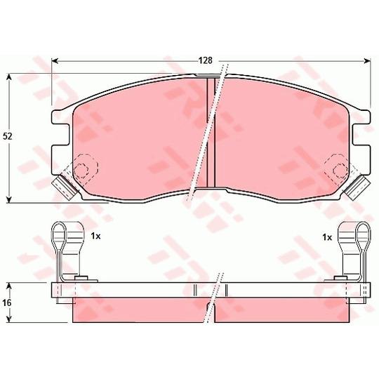 GDB1128 - Piduriklotsi komplekt, ketaspidur