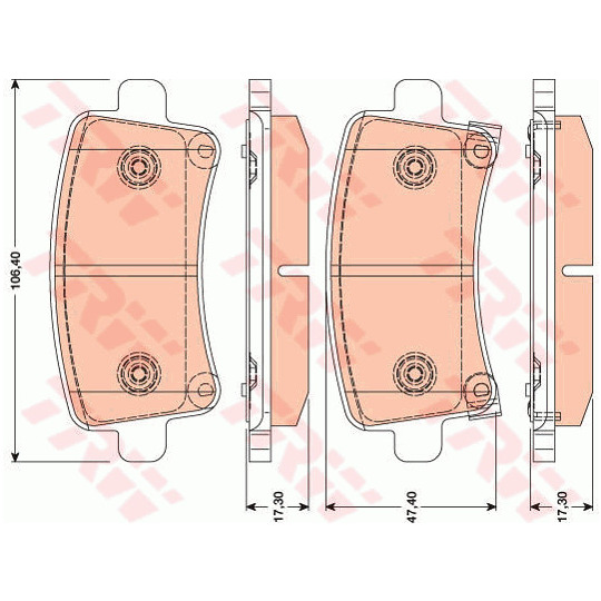 GDB1784 - Brake Pad Set, disc brake