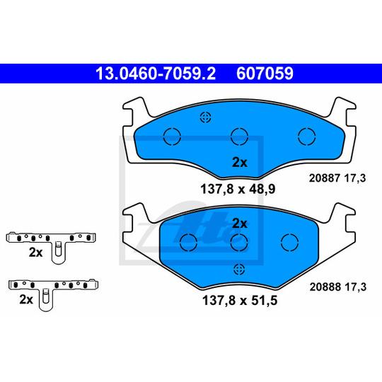 13.0460-7059.2 - Brake Pad Set, disc brake