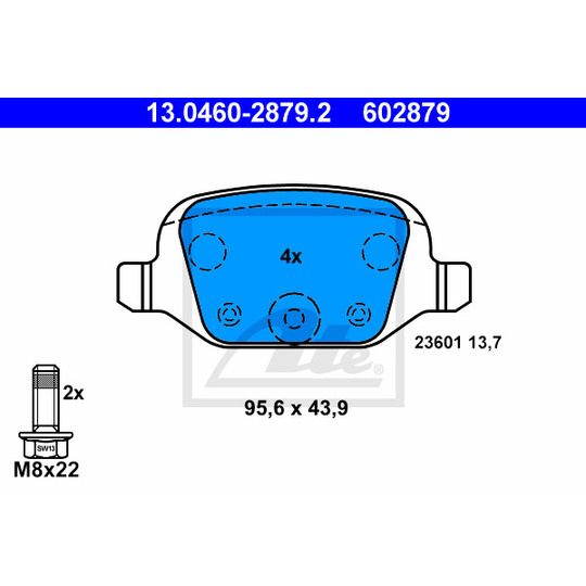 13.0460-2879.2 - Brake Pad Set, disc brake