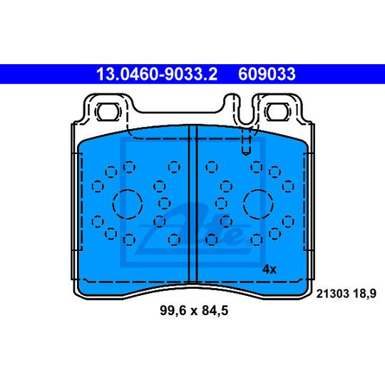 13.0460-9033.2 - Brake Pad Set, disc brake