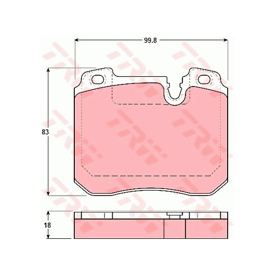 GDB1161 - Piduriklotsi komplekt, ketaspidur