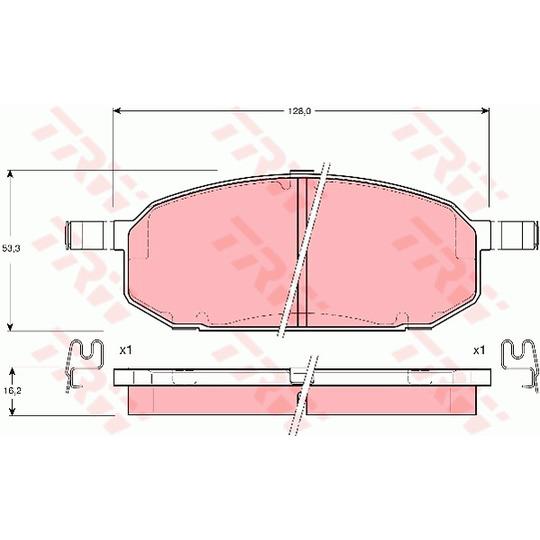 GDB3153 - Brake Pad Set, disc brake