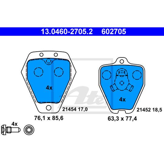 13.0460-2705.2 - Brake Pad Set, disc brake