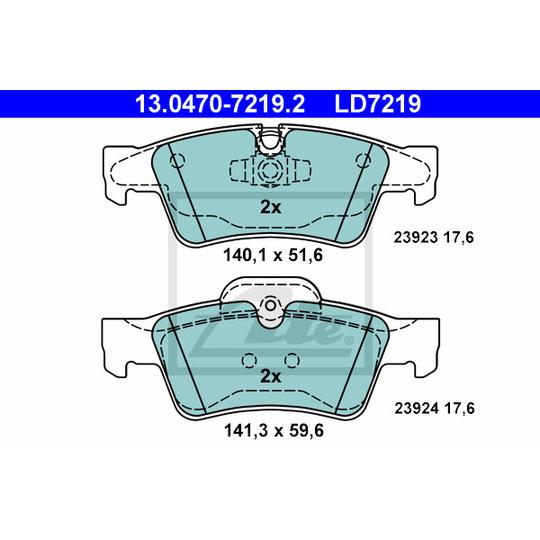 13.0470-7219.2 - Brake Pad Set, disc brake