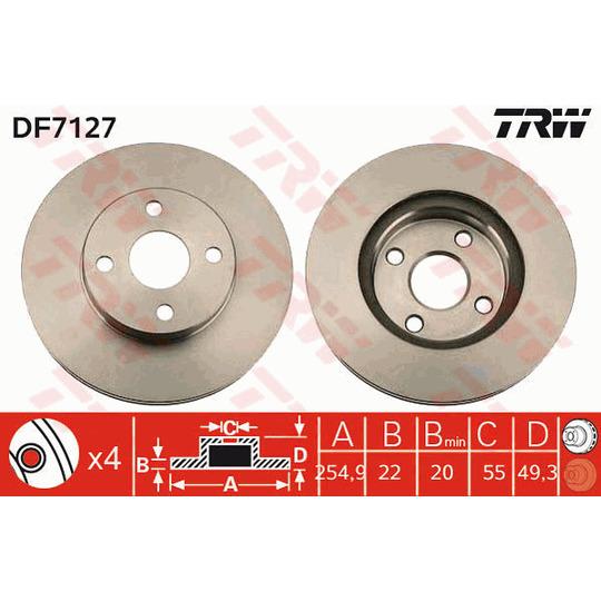 DF7127 - Brake Disc