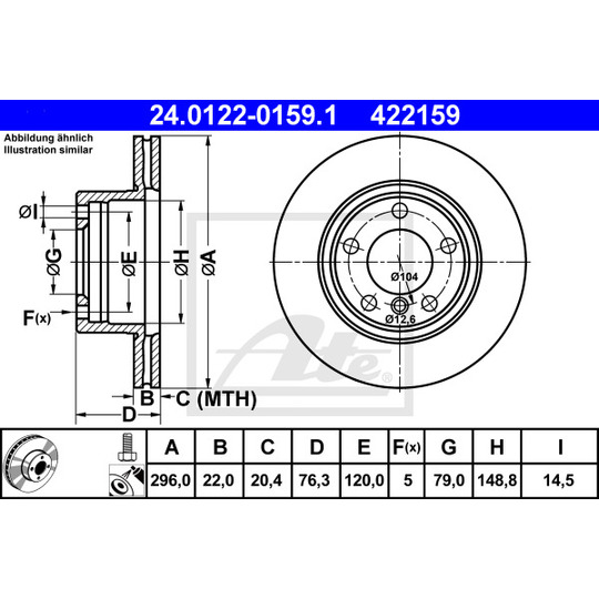 24.0122-0159.1 - Brake Disc