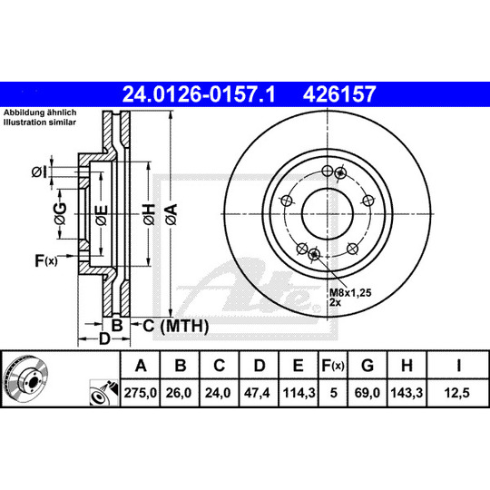 24.0126-0157.1 - Brake Disc