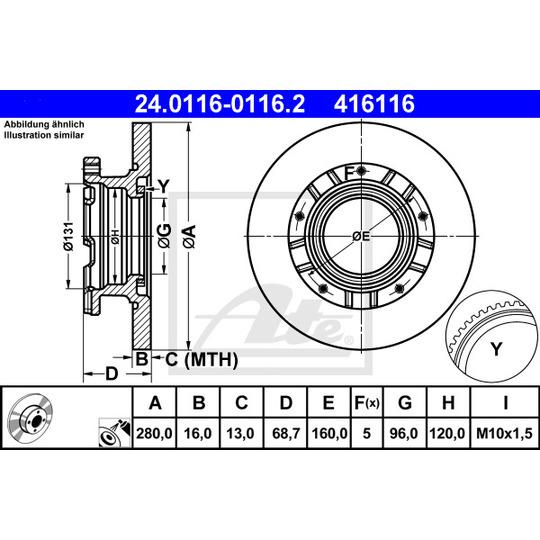24.0116-0116.2 - Brake Disc