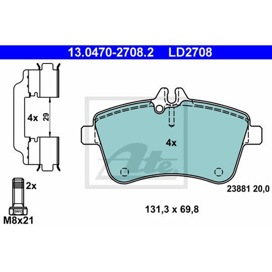 13.0470-2708.2 - Brake Pad Set, disc brake