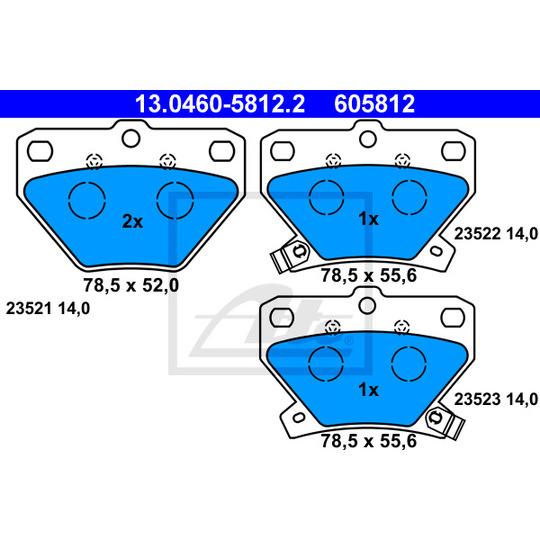 13.0460-5812.2 - Brake Pad Set, disc brake