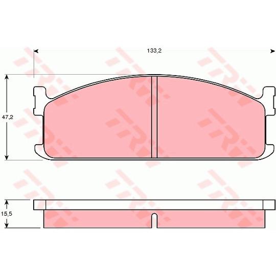 GDB345 - Brake Pad Set, disc brake