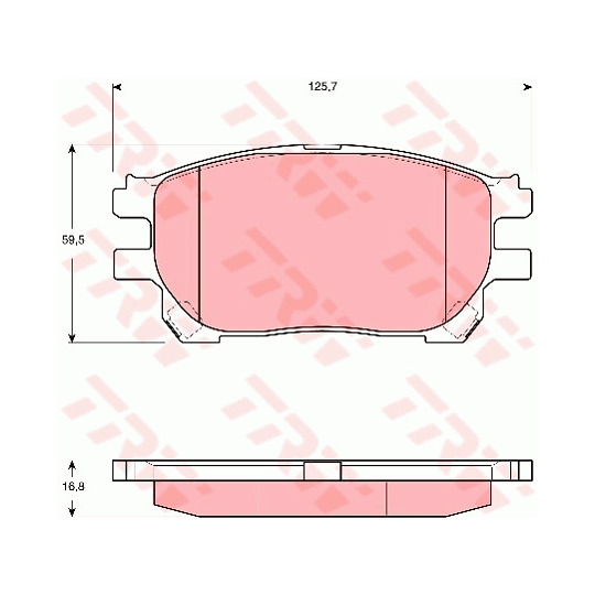 GDB3414 - Brake Pad Set, disc brake
