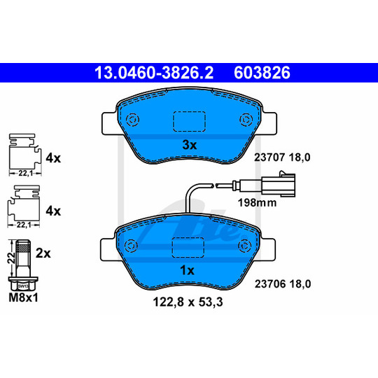 13.0460-3826.2 - Brake Pad Set, disc brake