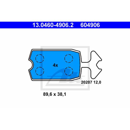 13.0460-4906.2 - Bromsbeläggssats, skivbroms