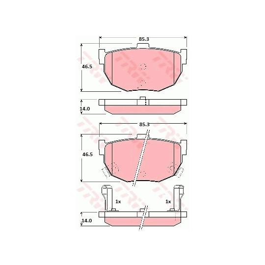 GDB1010 - Piduriklotsi komplekt, ketaspidur