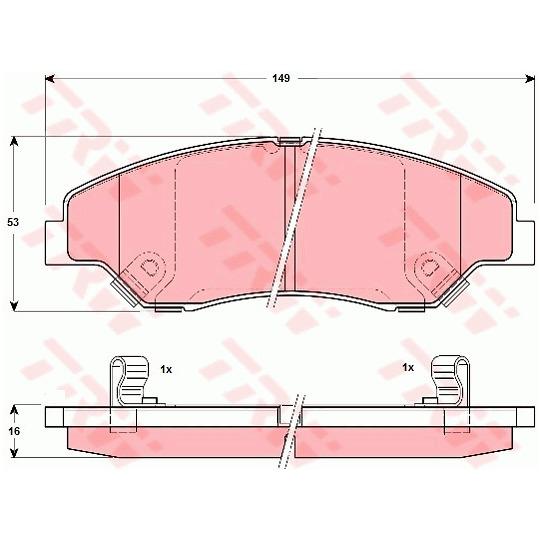 GDB3241 - Bromsbeläggssats, skivbroms