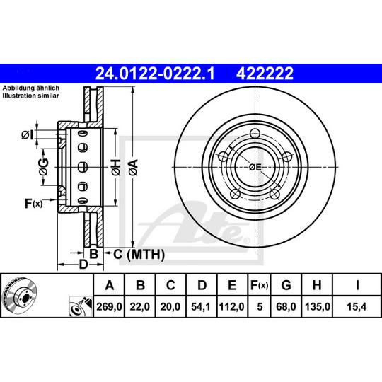 24.0122-0222.1 - Brake Disc