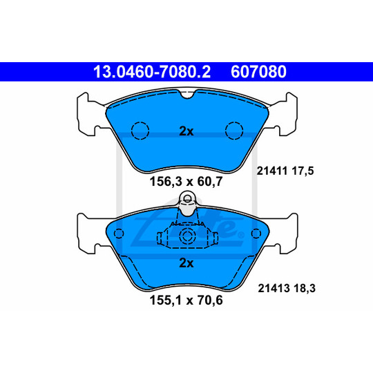 13.0460-7080.2 - Brake Pad Set, disc brake