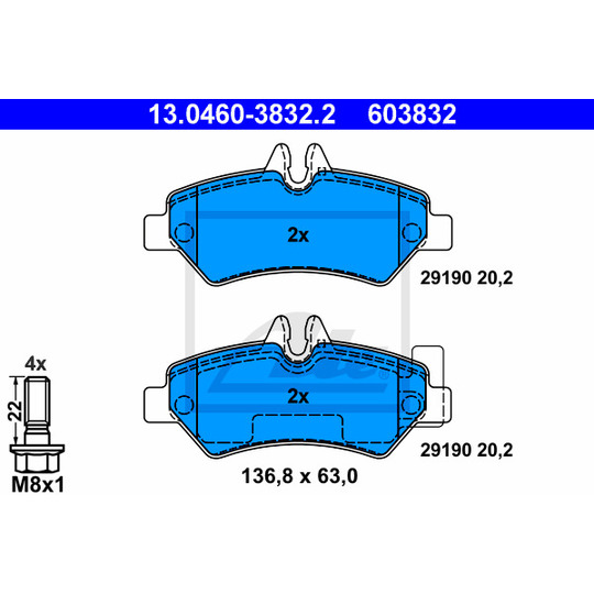 13.0460-3832.2 - Brake Pad Set, disc brake